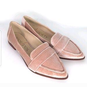 SOLE SOCIETY EDIE SMOKING SLIPPER FLAT Blush Pink